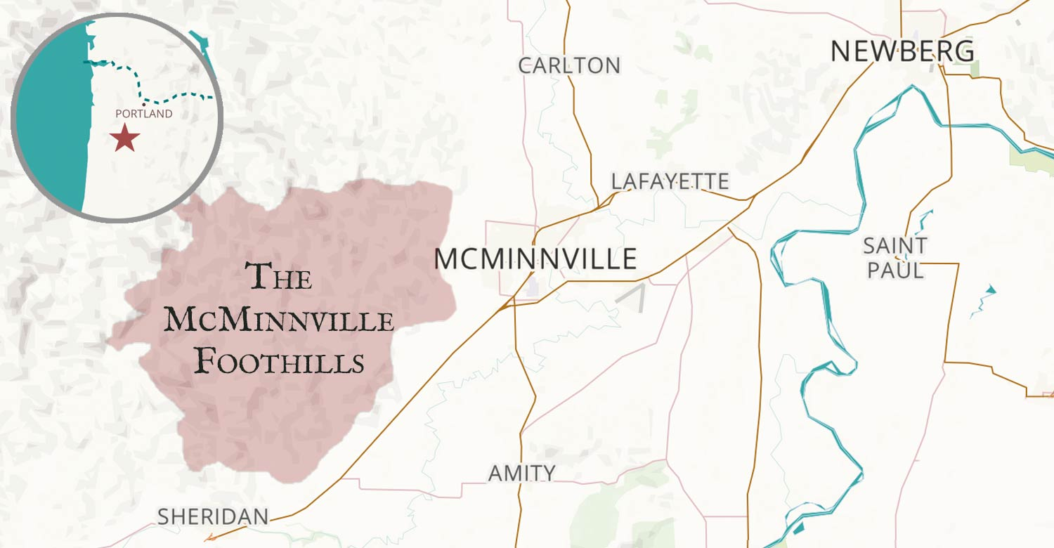 McMinnville Foothills map