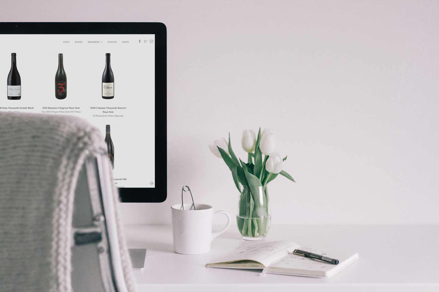 New wine trade group website