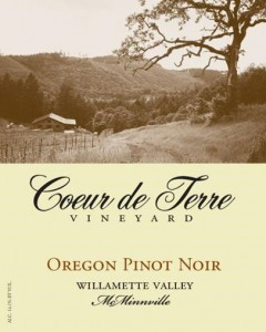 Coeur de Terre Oregon Pinot Noir
